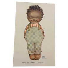 Mabel Lucie Attwell Postcard Black Doll Interest Signed Original