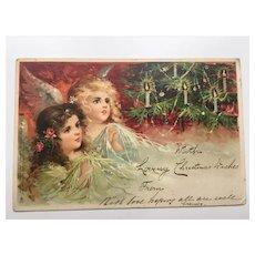 Victorian Christmas Postcard Raphael Tuck