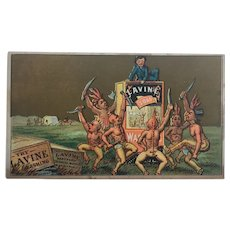 Victorian Lavine Soap Trade Card Advertisng American Indian Interest