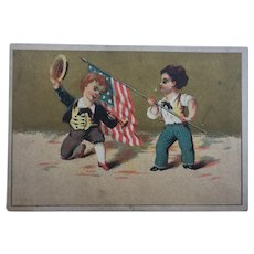 American Trade Card Stars and Stripes Flag American Independence Interest