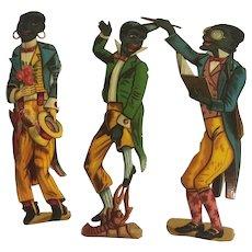 Large Victorian Die Cut Scraps, Black Americana