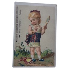 French Trade Card Advertising Shoes Cobblers Paris