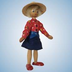 Vintage 1960's Peg Doll Girl