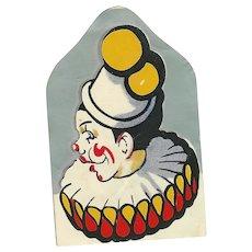 Vintage Sticker Ephemera Clown Scraps
