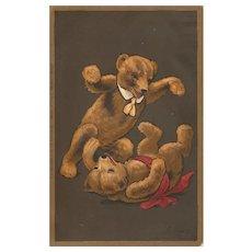 Antique Postcard Teddy Bears C.W. Faulkner Ltd Steiff Interest