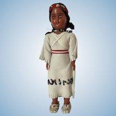 Vintage Character Native American Celluloid Souvenir Tourist Doll