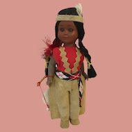 Native American Character Doll with Amber Eyes