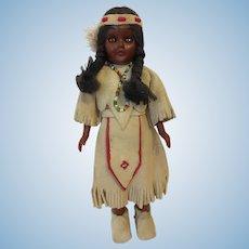 Vintage Carlson Native American Celluloid Souvenir Doll Shoshoni Princess