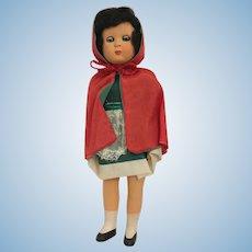 Rare Vintage Celluloid Italian Costume Souvenir Doll by FIBA Made in Italy original box 1950s