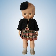 Small Celluloid Pedigree Character Doll Made in England Scottish Theme Scotland Souvenir