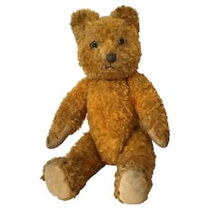 Mohair Teddy Bear Small Cinnamon Hump Back Glass Eyes