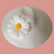 Madame Alexander Dolls Hat White Straw Daisy for Coco (16 inch) Doll