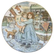 Royal Worcester Porcelain Collectable Plate Designed Love Christmas Plate 1987