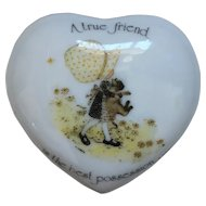 Holly Hobbie Vintage Porcelain Designer Collection Trinket Pot