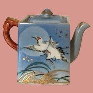 Japanese Miniature Teapot Stork Design