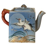 Japanese Miniature Teapot Stork Design