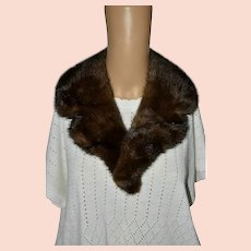 Victorian Mink Over Coat Fur Collar Accessory