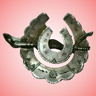 Victorian Aesthetic Period Silver Horseshoe Brooch 2.17 grams