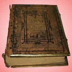 Antique 19th Century Illustrated Brown's Family New And Old Testaments Bible