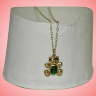 Girls Gold 9 kt Necklace with Teddy Bear Pendant 0.77 grams