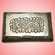 Oriental White Metal Snuff Box