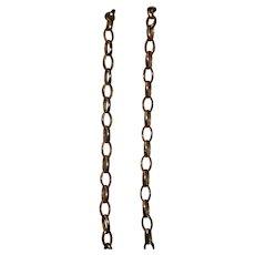 Gold Belcher Chain Necklace 9kt 3.38 grams by JJ