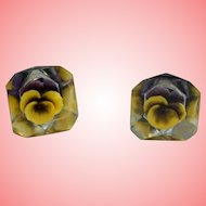 Victorian Flower Screw Back Earrings