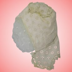 Victorian Cotton and Macrame Doll or Baby Bonnet
