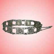 Vintage Silver Filigree Panels Bracelet 10 grams