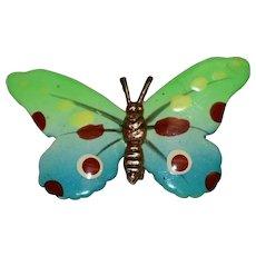 Art Nouveau Enamel Butterfly Brooch