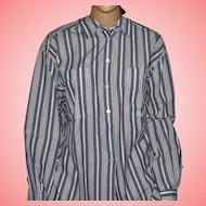 Vintage Shirt by Jaeger Purple Striped Collared Shirt Size UK 14
