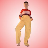 Vintage Jaeger Mustard Pants Trousers Size UK 8 US 6