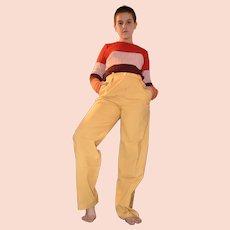 Vintage Jaeger Mustard Pants Trousers Size UK 8 US 6