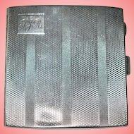 Art Deco Engine Turned Silver Cigarette Case Engraved 114.17 g