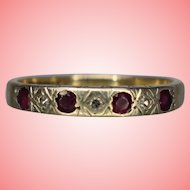 Gold Ring by S&Co Garnet Ring Size P 1/2 2.42 grams