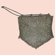 Victorian Silver Plated Mesh Coin Purse 99.46 grams