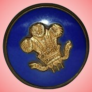 Commemorative Princess Diana Wedding Blue Enamel Brass Welsh Pill Box