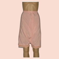 Edwardian Pink Silk and Lace Bloomers Size UK 10