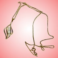 Gold Necklace 9 kt Pearls Ladies Necklace