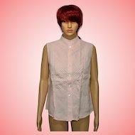 Late 90s Vintage Jaeger Pink Linen Shirt Size UK 12 US 10