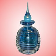 Vintage Iridescent Blue Perfume Bottle
