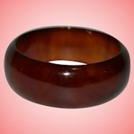 Vintage Amber Bakelite Bangle Bracelet