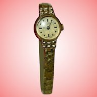 Rotary Gold Plated Hand Wind 17 Jewels Wristwatch