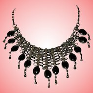 Victorian Jet Black Mourning Necklace