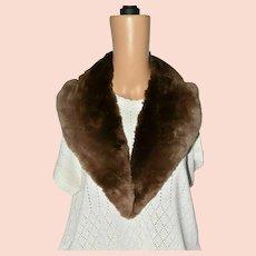 Victorian Beaver Unisex Brown Fur Shoulder Collar