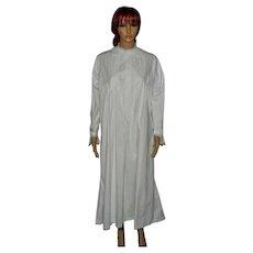 Victorian White Cotton Camisole Nightgown Under Garment Slip Size UK 18