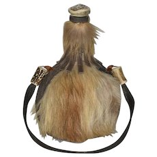 Fur and Bone Hunters Flask or Hip Bottle
