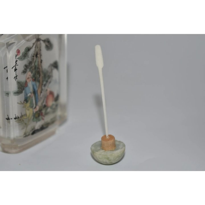 Chinese Reverse Painted Glass Perfume Snuff Bottle