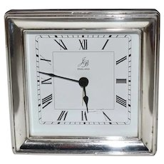 Silver Bound Table Clock by PJP 241.89 grams