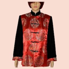 Traditional Chinese Jacket Tang Suit Yue Hwa Cheongsam Size XXL